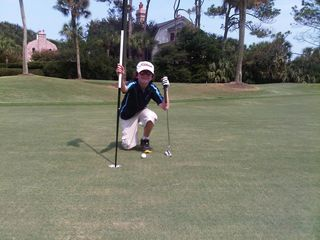 Liam near hole in one Ocean Course 15th hole August 19 2011  number 2 photo
