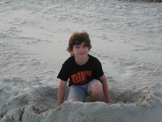 Liam in sand hole