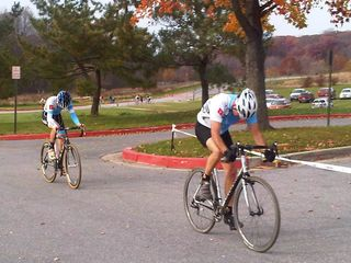 Jake and eric 1 lap to go on the road